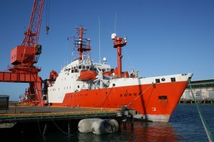 German research ship 'SONNE' (Image: Philipp Brandl)