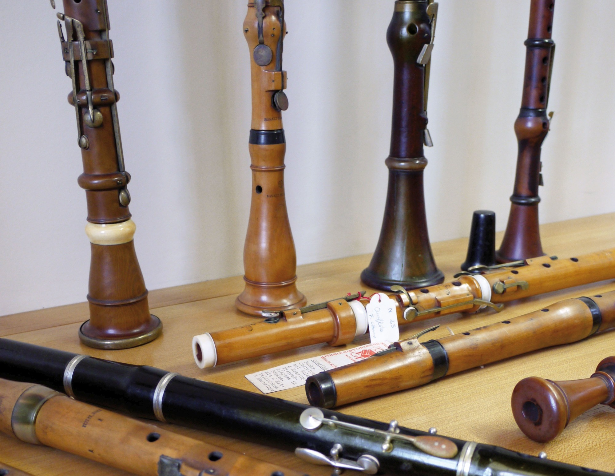 Baroque flutes, oboes and clarinets donated to the collection by Reinhold Neupert and Ulrich Rück (Image: Isi Kunath)