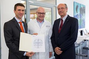 Stefan Müller, Prof. Dr. Georg Schett, Prof. Dr. Günter Leugering (Image: FAU/Erich Malter)