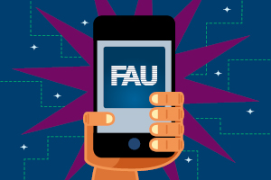 "Towards page ""The FAU app"""
