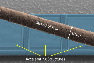 The nanostructures in the accelerator are not visible to the naked eye. (Image: FAU/Joshua McNeur)