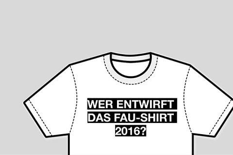 FAU invited entries for its first t-shirt design competition in the winter semester 2015/16 (image: FAU/Celina Henning)