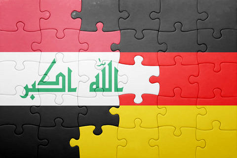 irak and german flag combined