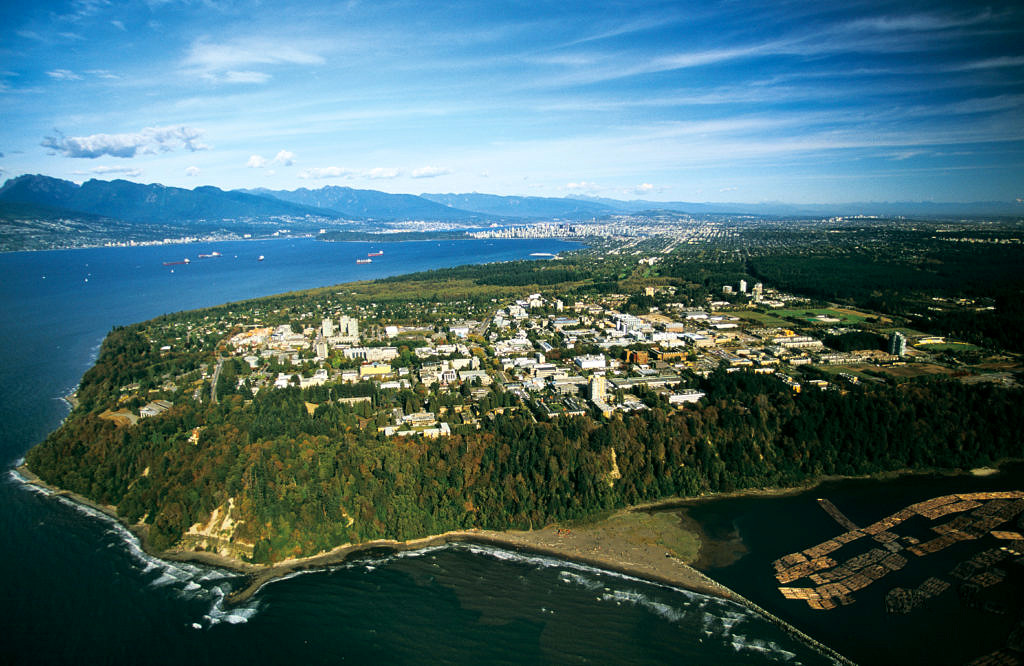 Aerial view of UBC Vancouver campus. (Image: Russ Heinl)