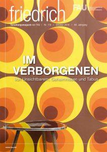 Cover FAU research magazine friedrich