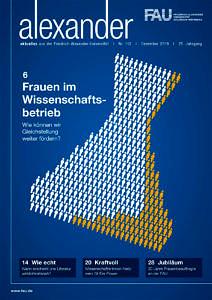 Cover FAU magazine alexander