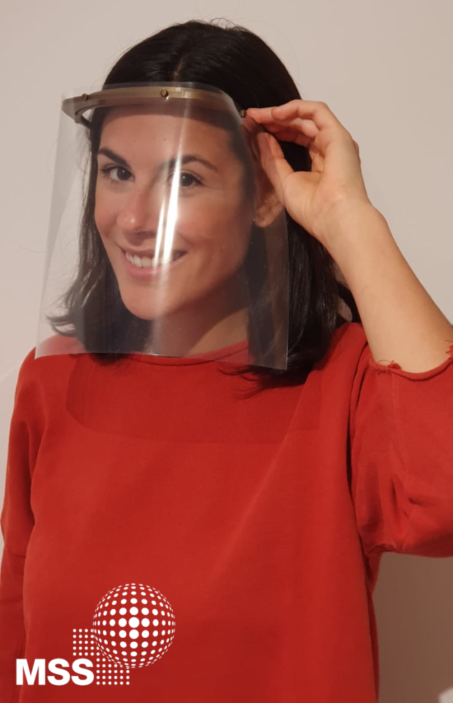 Protective visors from a 3D printer