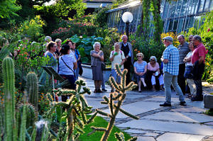 guided tour through the botanical garden