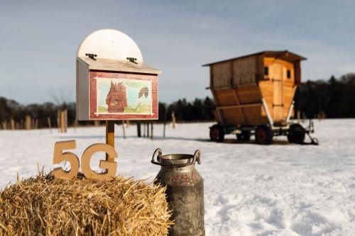 5G in einer Winterlandschaft